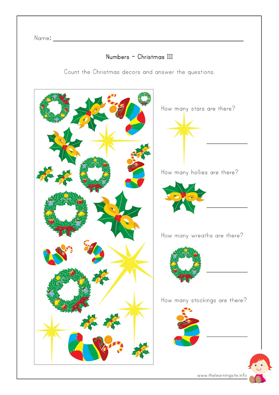Free Christmas Worksheets | New Calendar Template Site