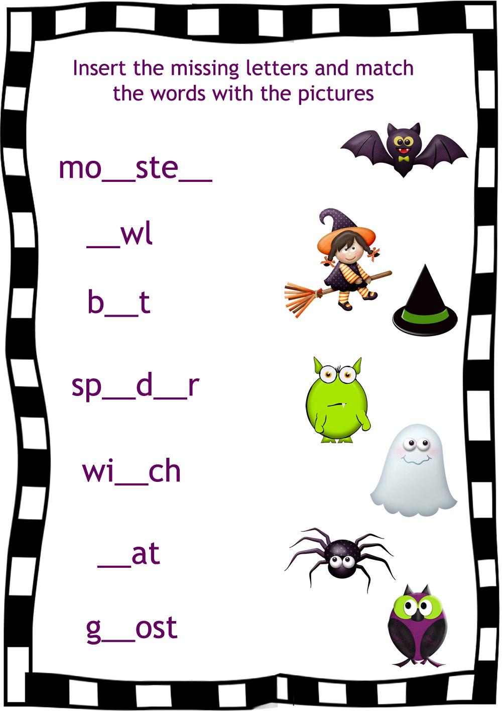 Halloween Worksheets For Kids Versaldobip – Halloween Worksheets Kindergarten