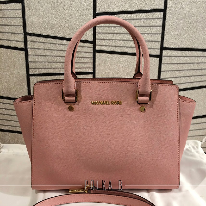 7d30f7d668127a Michael Kors Medium Selma Saffiano Leather Satchel - Pale pink ...