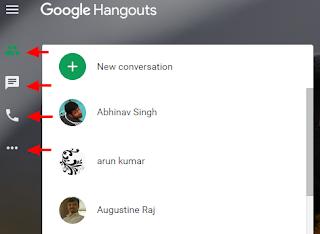 Google Hangouts RHS tabs