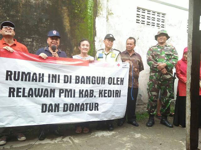 Launching pemugaran RTLH bersama TNI dan PMI