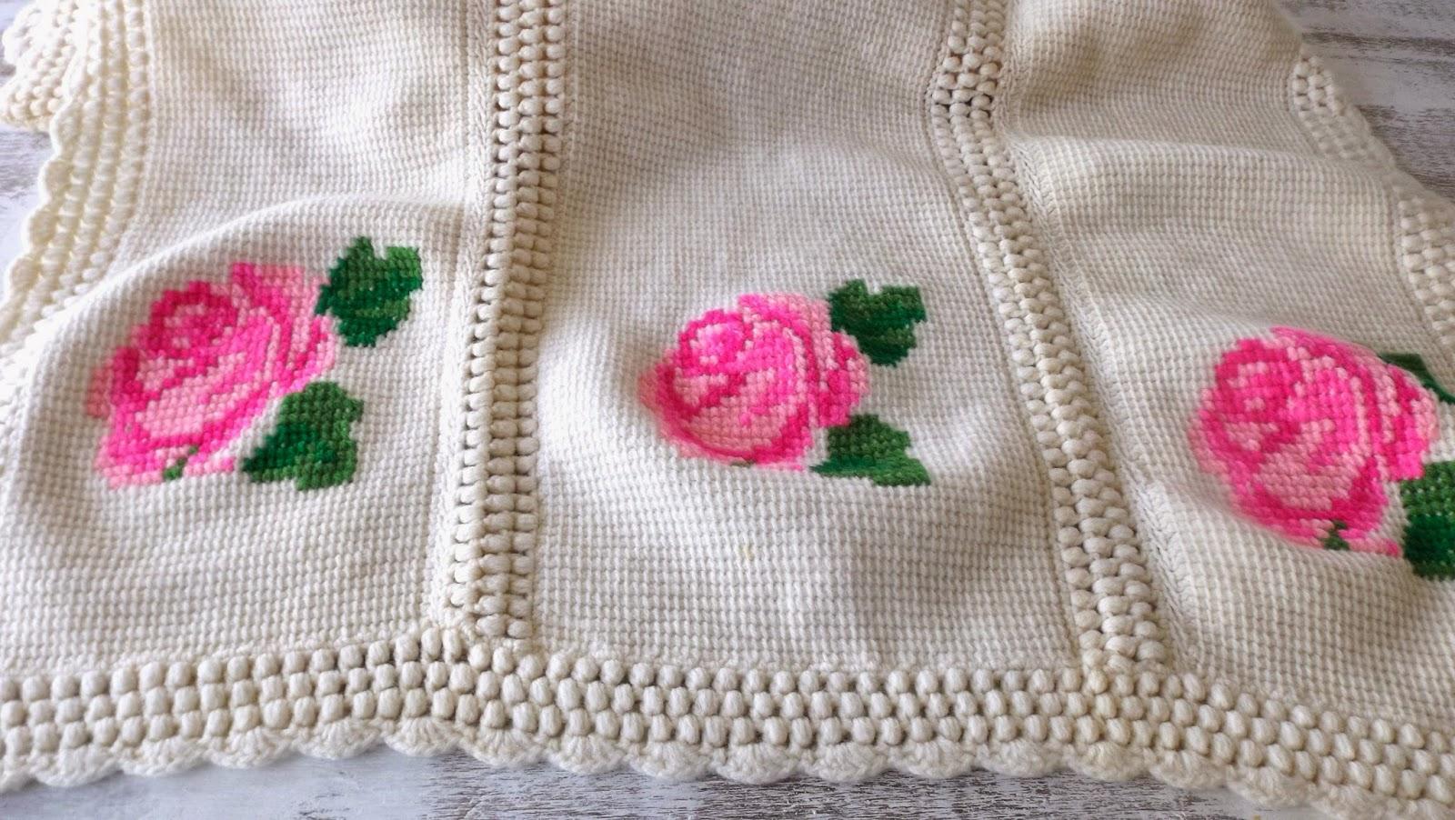Still Stunning Vintage Resale Crochet Afghan With