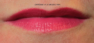 Swatch of NYC Expert Last Lip Color Matte lipstick in Velvety Fuchsia