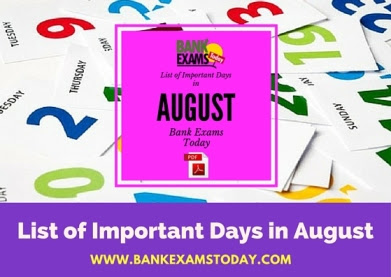 List Of Important Days Pdf