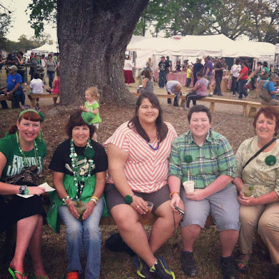 Bridget Eileen and family on St Patrick's Day at Oak Alley Plantation 2013