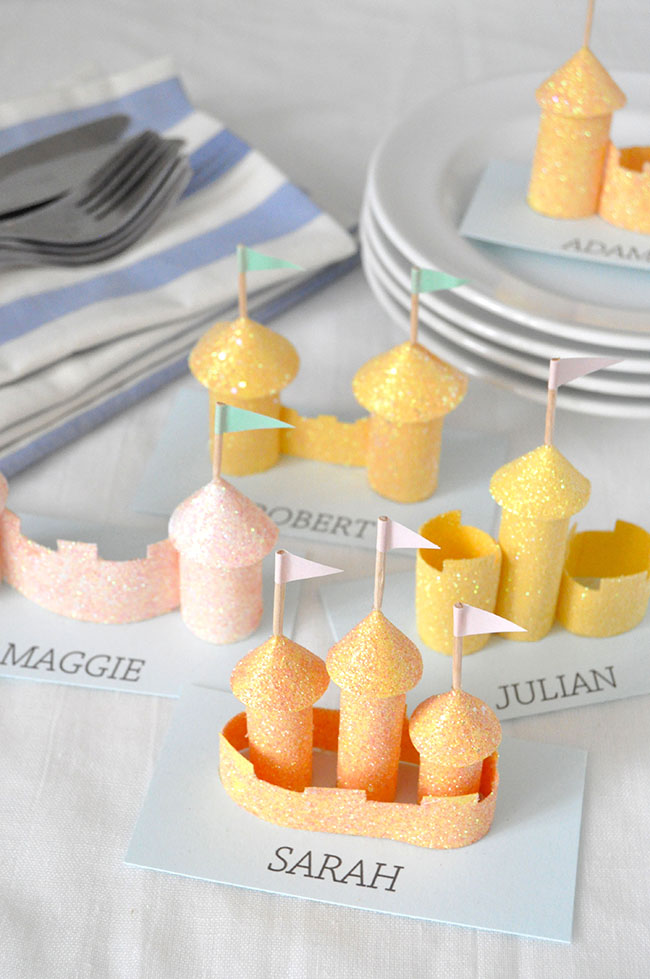 Sandcastle Place Cards