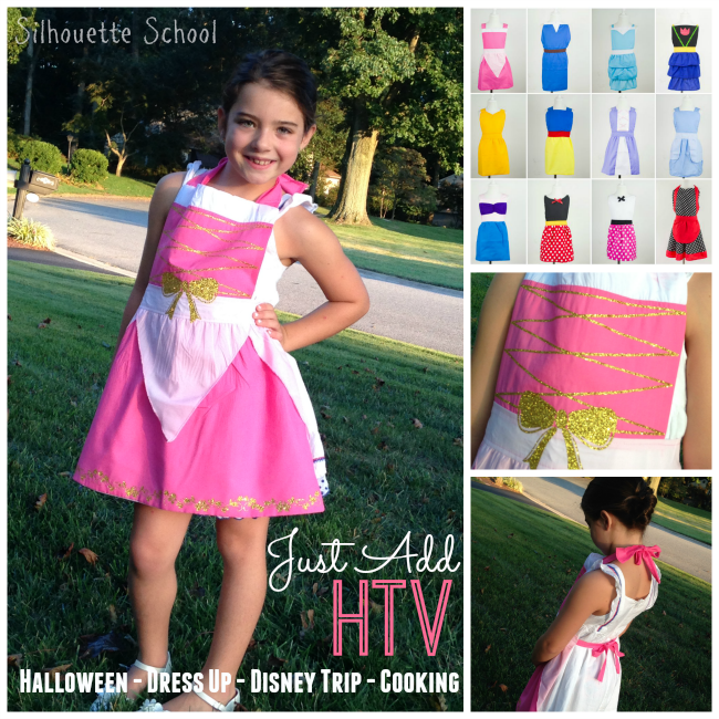 Silhouette Studio HTV heat transfer vinyl princess costume halloween costume DIY  sc 1 st  Silhouette School : disney princess halloween costumes diy  - Germanpascual.Com