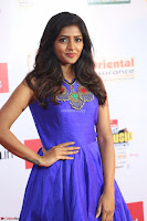 Eesha in Cute Blue Sleevelss Short Frock at Mirchi Music Awards South 2017 ~  Exclusive Celebrities Galleries 059.JPG