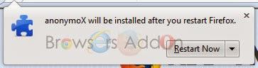 anonymoX _restart_install_succes