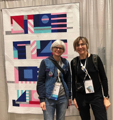 Luna Lovequilts - Quiltcon 2019 - My Flashback quilt entered in Improvisation category