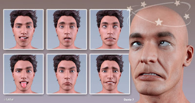 Grimaces - Morph Dial / One-Click Expressions for Genesis 3 Male