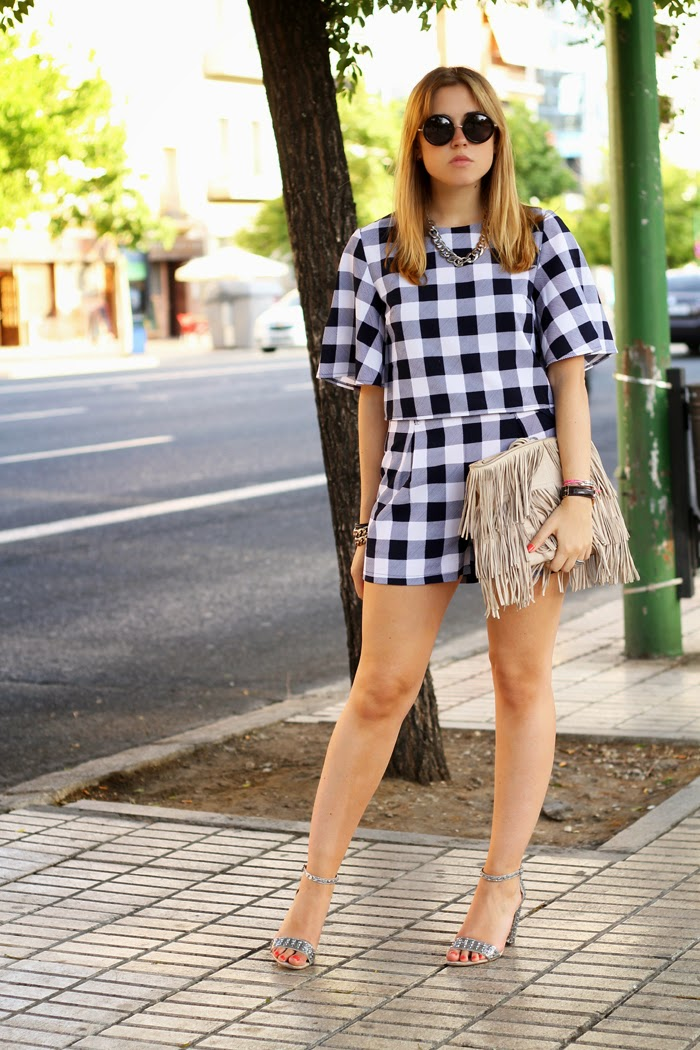 vichy shorts and top