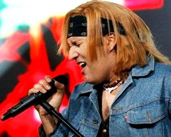 Foto del imitador del cantante Jon Bon Jovi
