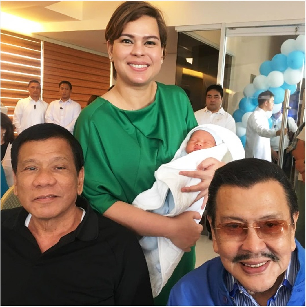 In this March 16, 2017, President Rodrigo Duterte with his grandson, Marko Digong