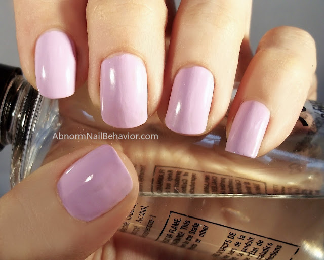 Purple cream nail polish