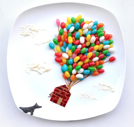 Artist Creates Art with Food