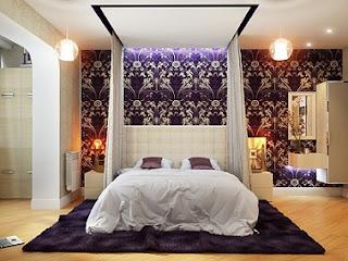 Dormitorio colo púrpura