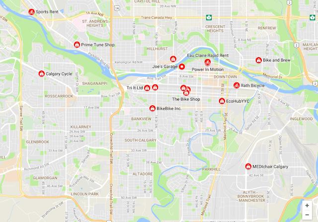 Her kan du leje cykler i Calgary