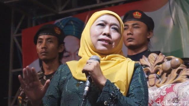 Khofifah Tolak Jadi Tim Kampanye Jokowi-Ma'ruf Amin di Jatim