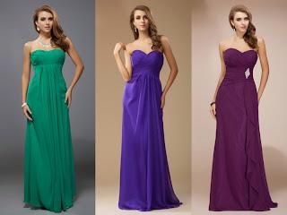 Robes de soirée bustier longue