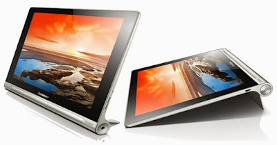 Lenovo Yoga Tablet 8 Specifications - LAUNCH Announced 2013, October  Available with 3G/Wi-Fi or Wi-Fi only support Tablet with no support for GSM voice communication DISPLAY Type IPS LCD capacitive touchscreen, 16M colors Size 8.0 inches (~60.5% screen-to-body ratio) Resolution 1280 x 800 pixels (~189 ppi pixel density) Multitouch Yes BODY Dimensions 213 x 144 x 7.3 mm (8.39 x 5.67 x 0.29 in) Weight 401 g (Wi-Fi) / 404 g (3G) (14.25 oz) SIM Micro-SIM   - Built-in 3-stage kickstand PLATFORM OS Android OS, v4.2 (Jelly Bean) CPU Quad-core 1.2 GHz Cortex-A7 Chipset Mediatek MT8125 GPU PowerVR SGX544 MEMORY Card slot microSD, up to 64 GB (dedicated slot) Internal 16/32 GB, 1 GB RAM CAMERA Primary 5 MP Secondary 1.6 MP Video Yes NETWORK Technology GSM / HSPA 2G bands GSM 900 / 1800 / 1900 3G bands HSDPA 900 / 2100 Speed HSPA GPRS Yes EDGE Yes COMMS WLAN Wi-Fi 802.11 b/g/n GPS Yes USB microUSB v2.0, USB Host Radio No Bluetooth v4.0 FEATURES Sensors Accelerometer, compass Messaging Email, Push Email, IM Browser HTML5 Java No SOUND Alert types Yes Loudspeaker Yes, with stereo speakers 3.5mm jack Yes  - Dolby Digital Plus BATTERY  Non-removable Li-Ion 6000 mAh battery Stand-by  Talk time Up to 18 h (3G) Music play  MISC Colors Gray  - MP3/WAV/WMA/AAC player - MP4/H.264 player - Document viewer - Photo viewer/editor