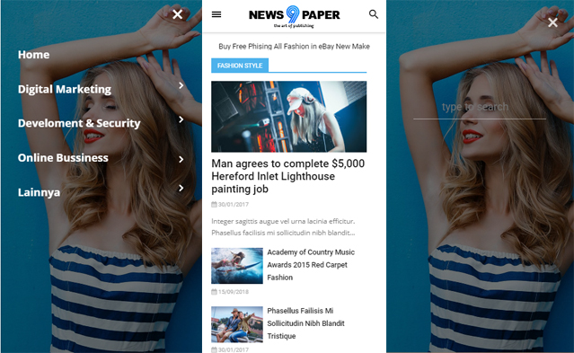 Download Template Blogger Newspaper Gratis by Rian SEO