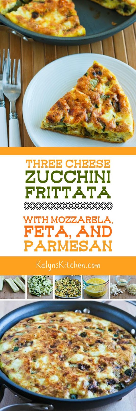 Three Cheese Zucchini Frittata with Mozzarella, Feta, and Parmesan ...