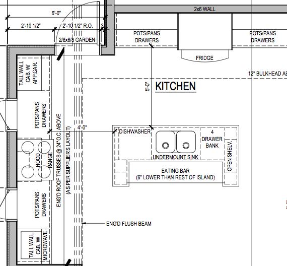 Journeynorth inspiration board kitchen for Kitchen floor plans by size