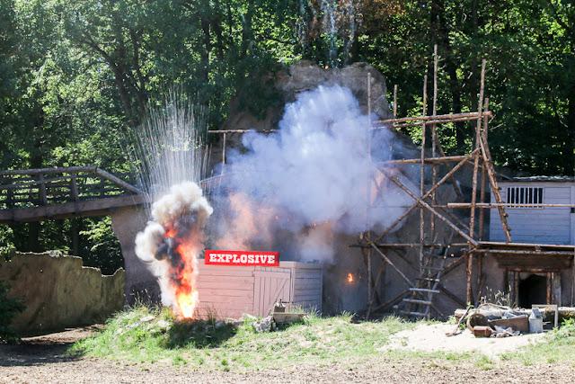 Karl May Freilicht Festspiele Im Tal des Todes Explosion