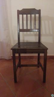 sedia vintage prima della trasformazione restauro