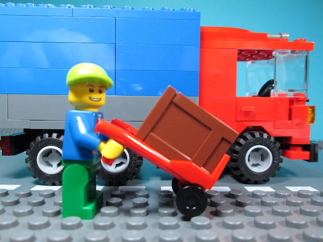 MOC LEGO Camião de distribuição