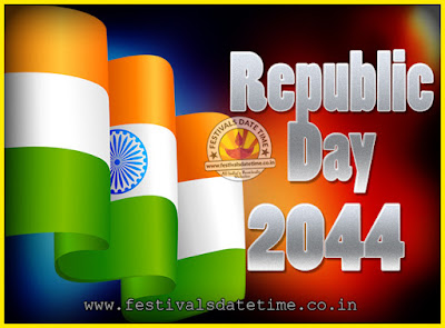 2044 Republic Day of India Date, 2044 Republic Day Calendar