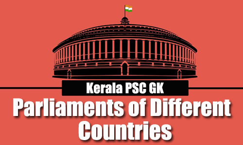 General Knowledge - List of Parliament of Different Countries