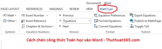 2 cách chèn công thức Toán học vào Word-1