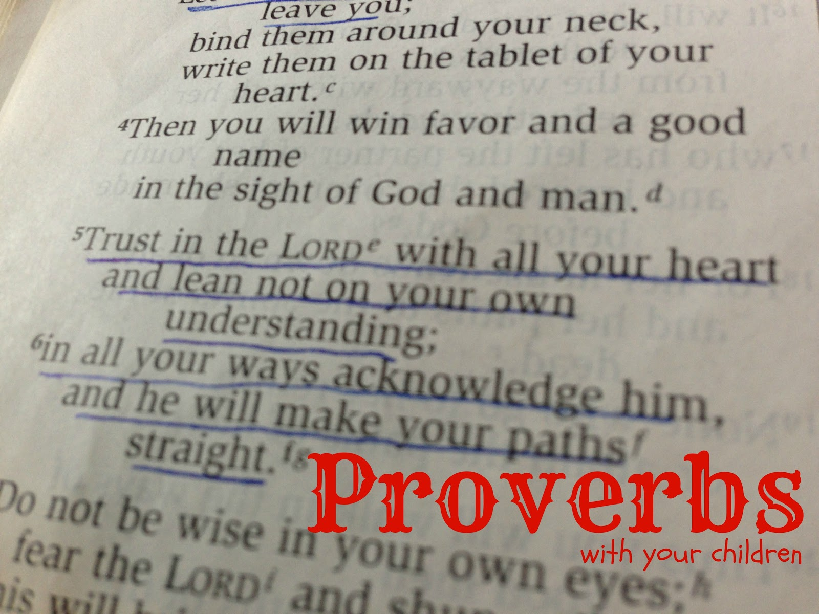 Studying Proverbs With My Kids
