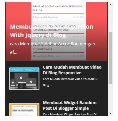 Responsive Automated Random Post Slider Blogger