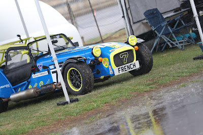 It was so wet at Castle Combe there were rivers appearing in the paddock!