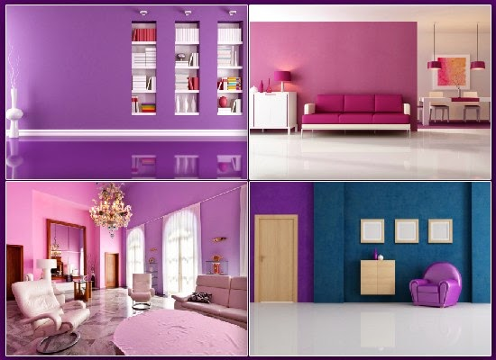 Violet colored interiors