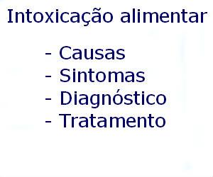Intoxicação alimentar causas sintomas diagnóstico tratamento prevenção riscos complicações