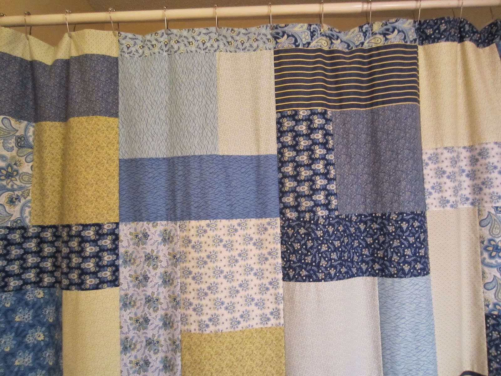 Shower curtain quilt pattern - Attaching The Hangers And The Shower Curtain Was Finished