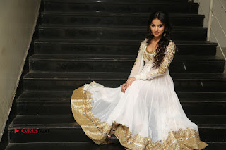 Telugu Actress Mahima Makwana Stills in White Desginer Dress at Venkatapuram Movie Logo Launch  0247.JPG