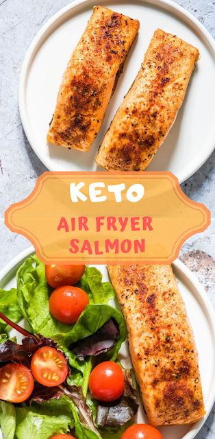 KETO AIR FRYER SALMON