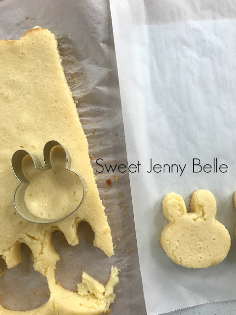 easter bunny petit four - lemon cake and recipe