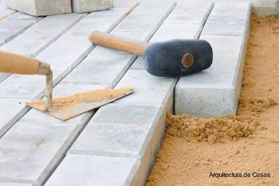 Imagen de la construcción de una calzada