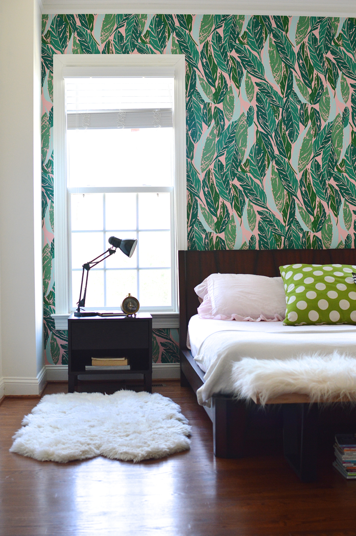 Design Addict Mom: Master Bedroom Refresh with Justina Blakeney's Nana Wallpaper!