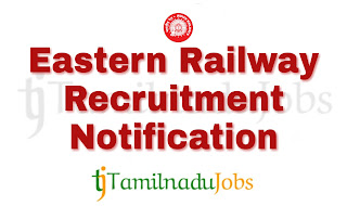 Eastern Railway Recruitment, Govt ITI jobs