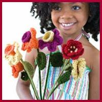 Ramo de flores a crochet