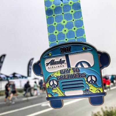 Bay to Breakers medal 2017