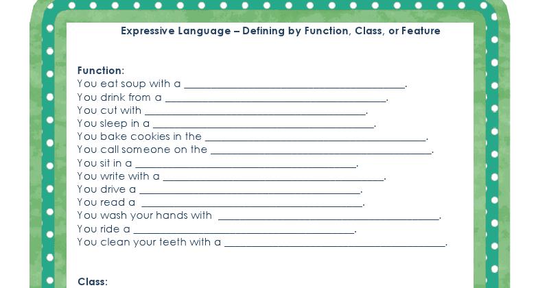 Ms Lane S Slp Materials Expressive Language Function
