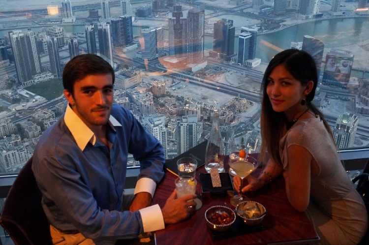 Euriental | At.mosphere bar at the Burj Khalifa. Tallest building in the world.